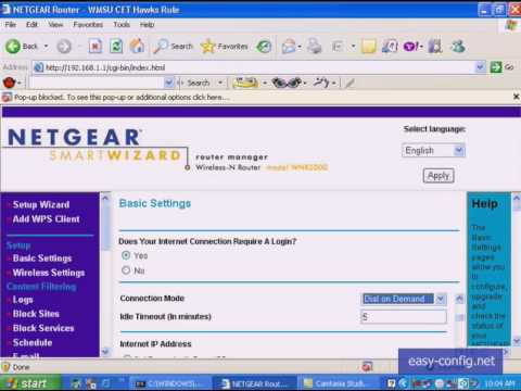 Netgear internet manual configuration