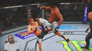 EA Sports UFC 2 Career Mode Part 7 - FLYING KNEE DESTROYED HIS LIFE