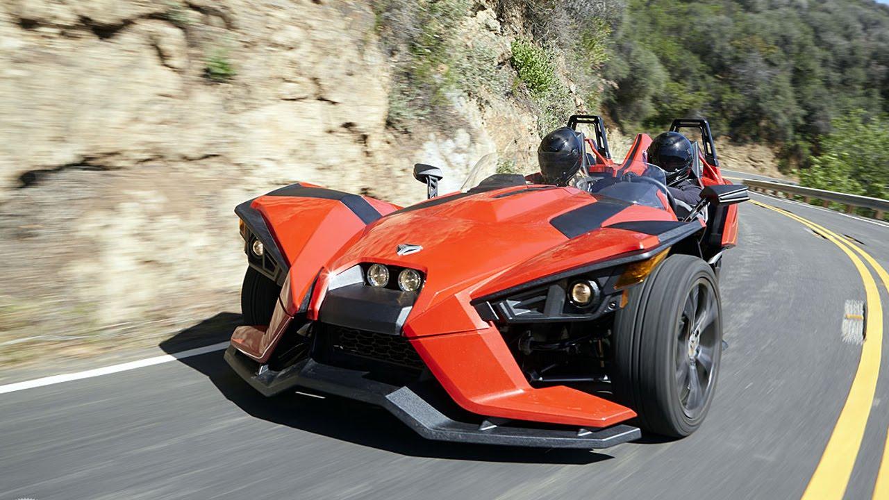 Three Wheeled Roadster >> 2015 Polaris Slingshot First Ride - MotoUSA - YouTube