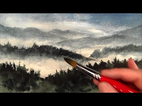 Mountains painting, How to Paint Landscape, Time Lapse