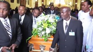 Funeral of singer Eric Charles