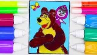 Маша и Медведь. Рисуем витраж Маша и Медведь. Видео для детей с Машей и Медведем