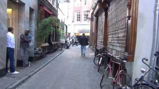 Walking Bloemstraat to Central station in Amsterdam