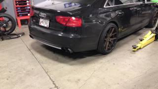 Futrell Autowerks 2014 Audi S8 4.0T Stage 2 /Straight Pipe Exhaust & APR downpipes