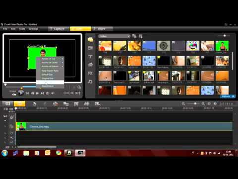 how tu use the chroma key on Corel VideoStudio Pro X3  YouTube