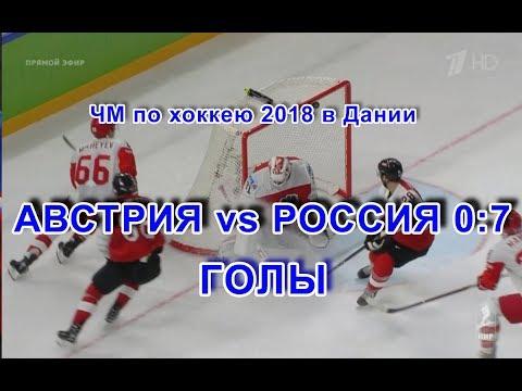 Видео IIHF Австрия-Россия 0:7. Голы. 6 мая 2018 г. ЧМ-2018 в Дании