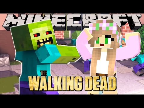 Minecraft - THE WALKING DEAD : LITTLE KELLY CAPTURED BY ZOMBIES?!