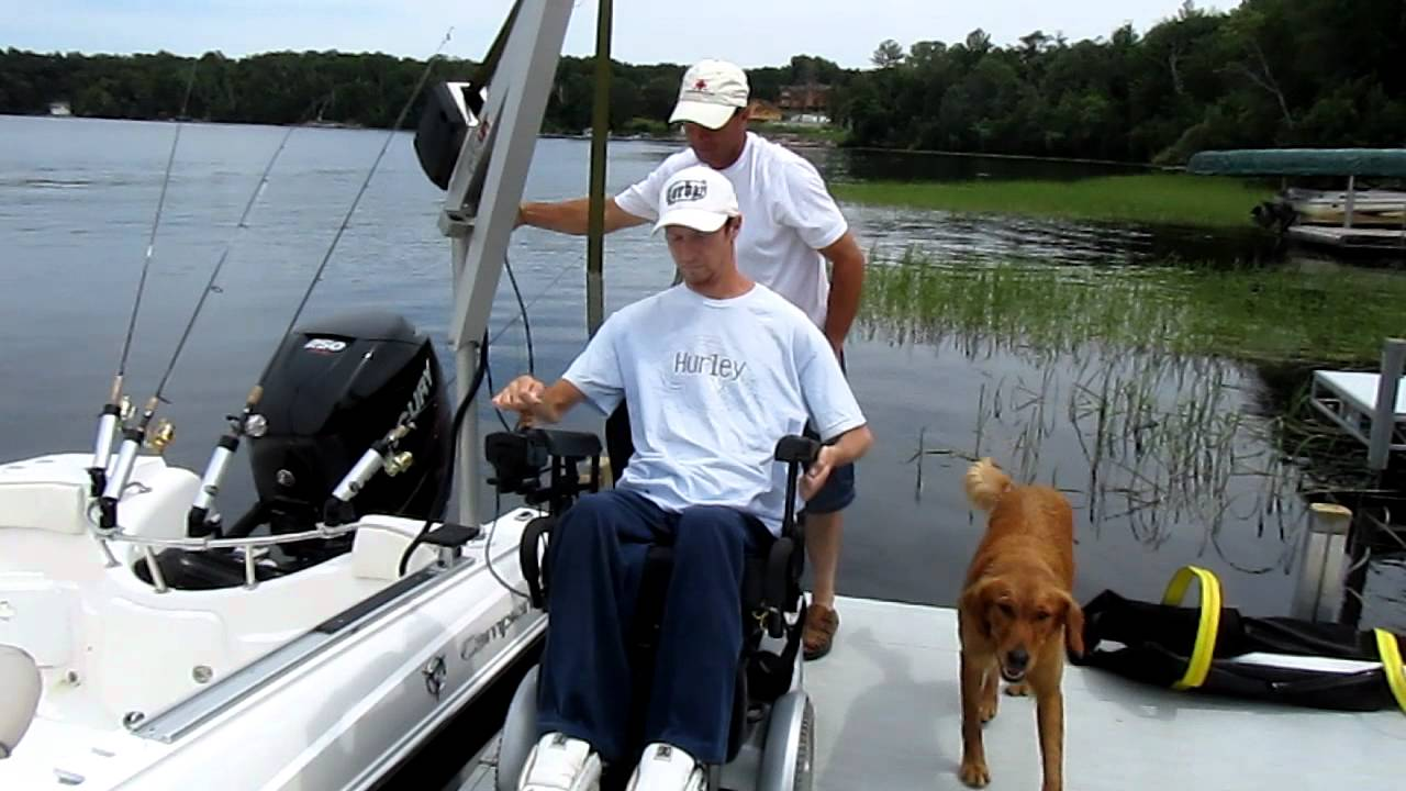 Wheelchair accessible fishing boat by campion marine youtube for Fishing license for disabled person