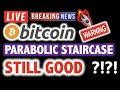BITCOIN Parabolic Staircase STILL GOOD?! ❗️LIVE Crypto Analysis TA & BTC Cryptocurrency Price News