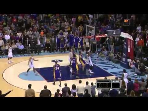 Block of the Night   Pau Gasol   Lakers vs Bobcats   December 14  2013   NBA 2013 14 Season