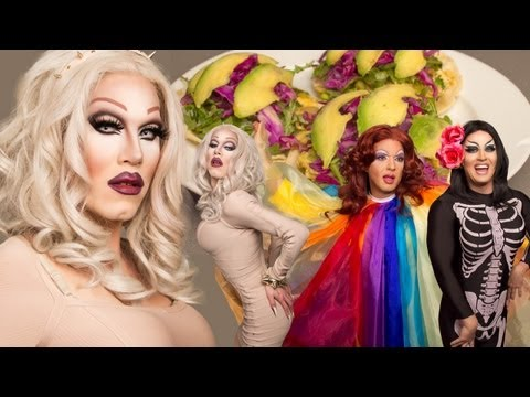 Sharon Needles - Asian Breakfast Tacos