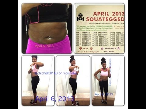 Weight loss Update   Workout Equipment. April Squat Challenge. & Giveaway
