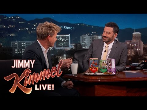 Gordon tries Girl Scout cookies for the first time and is not pleased. Mean Tweets - Music Edition #3 - https://youtu.be/4Y8bUT8UXUA SUBSCRIBE to get the latest #KIMMEL: http://bit.ly/JKLSubscrib...