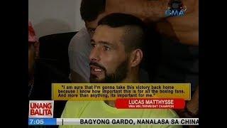 UB: Lucas Matthysse, nagpamalas ng bagsik sa harap ng media