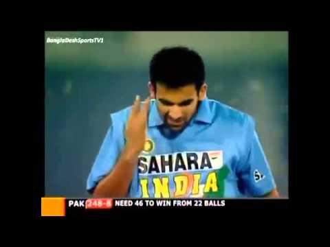 Zaheer Khan Stunning Yorker vs Pakistan 5th ODI 2004 Lahore.