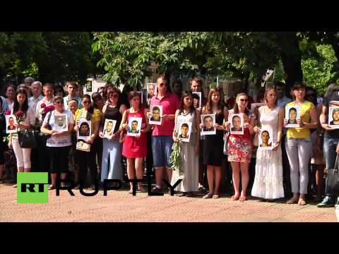 Ukraine: Lugansk mourns air attack victims one year on
