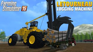 Farming Simulator 2015 LETOURNEAU FDR Logging Machine