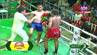 Lao Chantrea, Cambodia Vs Khum Phit, Thai, Khmer Boxing 6 october 2018