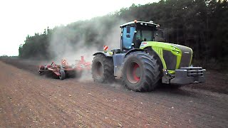 Claas Xerion 5000 powerful machine + Horsch Tiger 8 AS cultivating