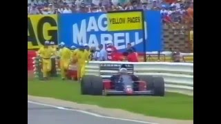 Gabriele Tarquini retires, 1992 South African GP