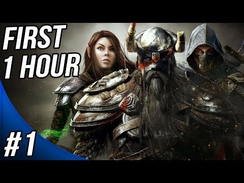 The Elder Scrolls Online Walkthrough Part 1 Gameplay Let's Play - The First Hour