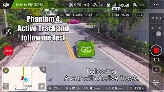 Phantom 4 Active Track Follows A CAR :) In 4k
