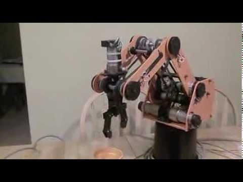Scorbot Robotic Arm Cube pickup