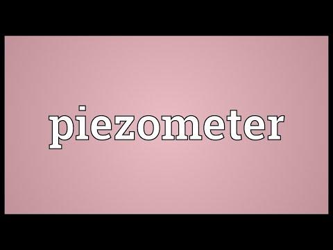 Header of piezometer