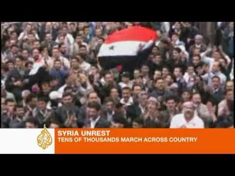 Syrian protests on video