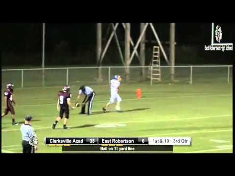 Clarksville Academy WR #82 TD reception against East Robertson