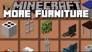 Minecraft MORE FURNITURE MOD / BRAND NEW ITEMS FOR A PARTY HOUSE!! Minecraft