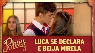 Luca se declara e beija Mirela | As Aventuras de Poliana
