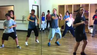 Taking class at EDGE featuring Leslie Scott Choreography, Tari Mannello