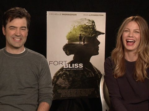 Michelle Monaghan and Ron Livingston Talk 'Fort Bliss'
