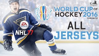 NHL 17: All World Cup Of Hockey Jerseys
