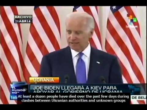 Joe Biden arrives to Kiev to find solution to Ukranian crisis