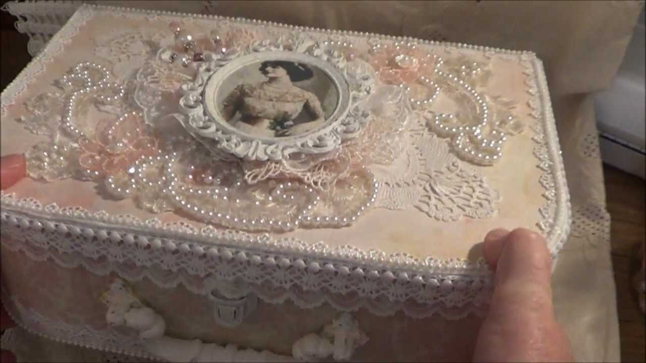 shabby chic art dress and box for carole youtube. Black Bedroom Furniture Sets. Home Design Ideas