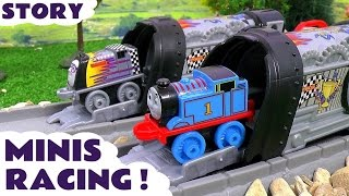 Thomas & Friends Minis Toy Trains Great Race Episode Story using Launchers - Fun family toys TT4U