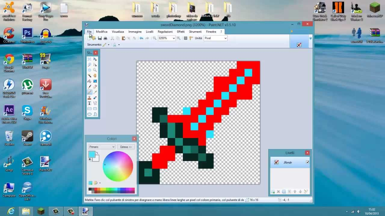 Come modificare quadri minecraft