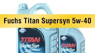 Моторное масло Fuchs Titan Supersyn 5w-40