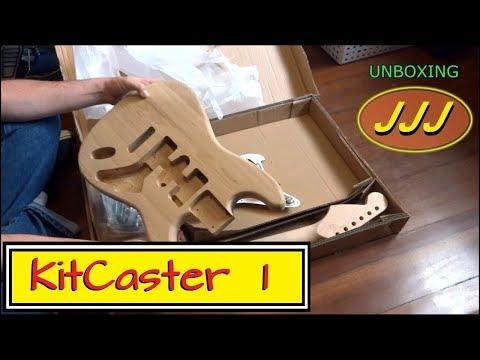 Montando Kit DIY de Guitarra Stratocaster Ash (1-Unboxing)