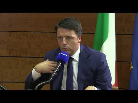 """Matteo Renzi : 'Italie et la France doivent engager des réformes structurelles"""""""