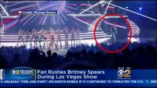 Fan Rushes Britney Spears During Las Vegas Show