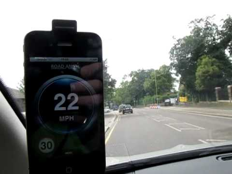 The Road Angel iPhone App, demonstrated live and no edits