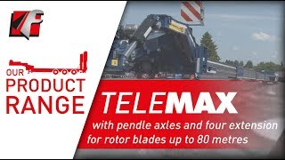 FAYMONVILLE Telemax: with pendle axles and four extension for rotor blades up to 80 metres