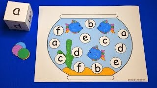 Fishbowl Roll and Cover Preschool Learning Activity