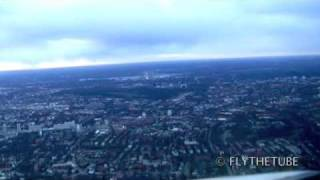 LOC Approach RWY 33 Hamburg, EDDH / HAM Airport, Cockpitview