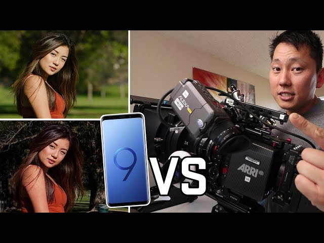 Samsung Galaxy S9 plus vs Hollywood Movie Camera Arri Alexa