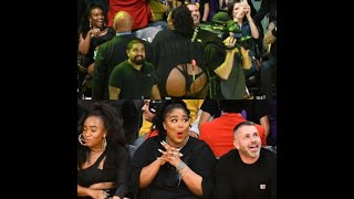 Lizzo moons the crowd at a basketball game Chile I saw it all.