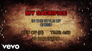 Creed - My Sacrifice (Karaoke)